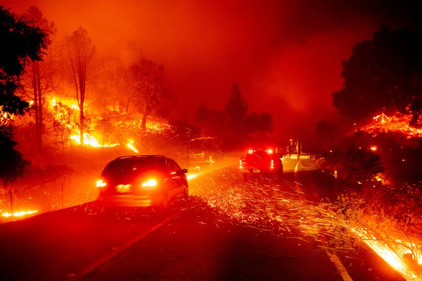 Kincade fire in California