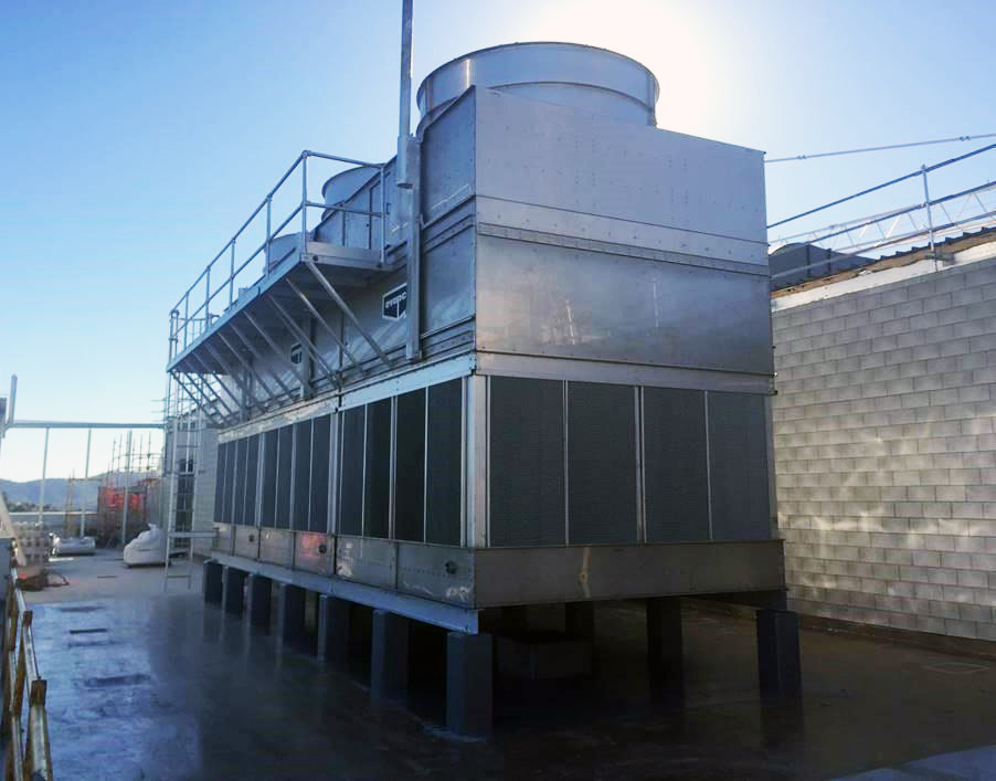 cooling tower outside motor